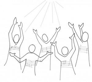 Singing choir
