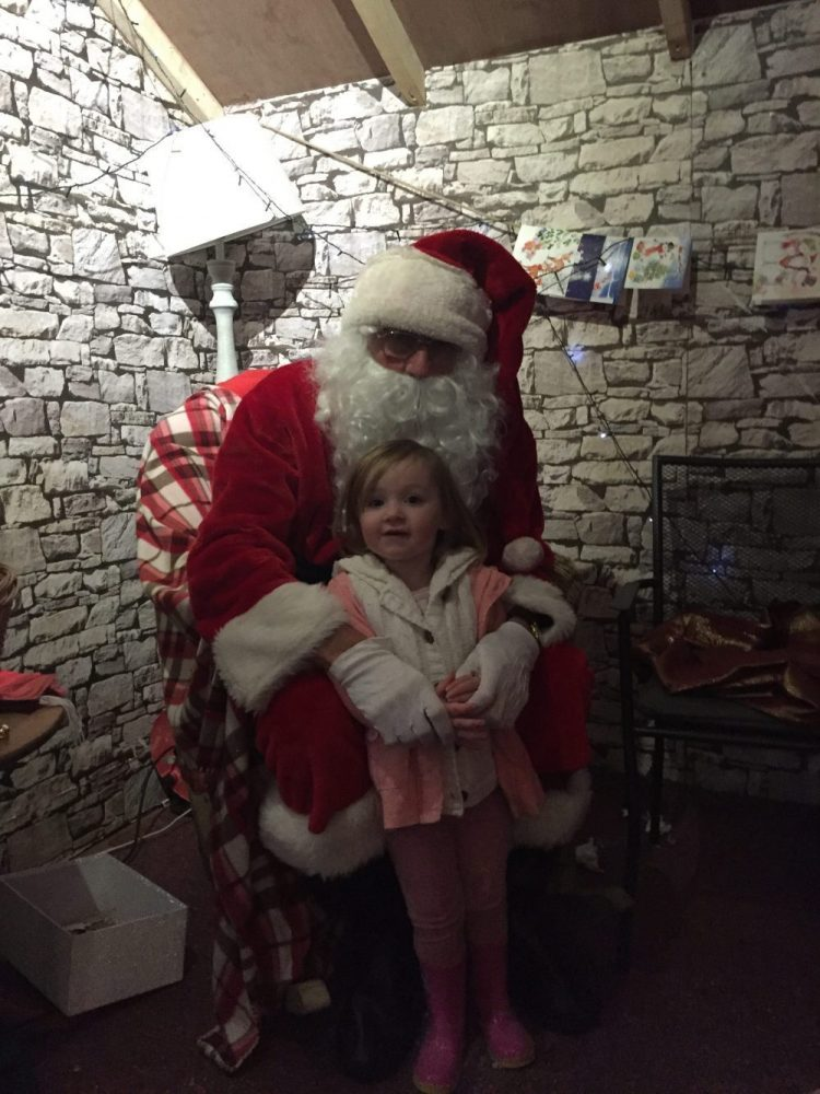 Mia meeting Santa!