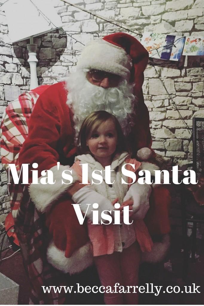 Mias 1st santa visit