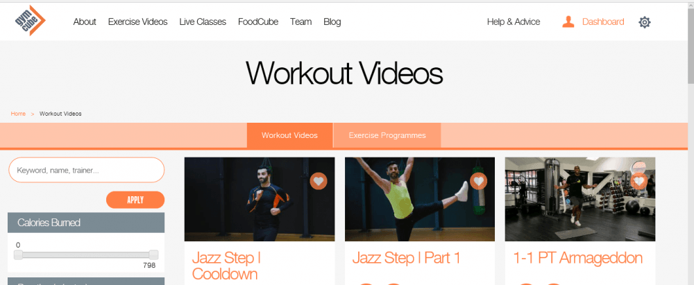 gymcube workout videos
