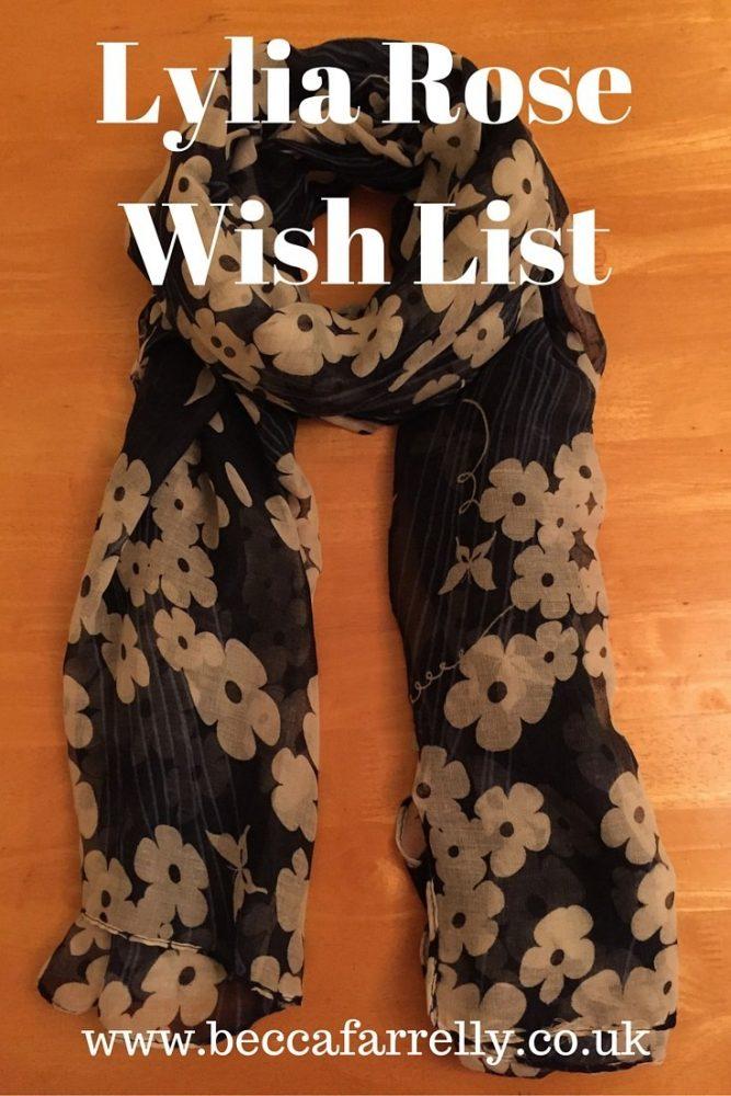 My LyliaRose.com Wish List
