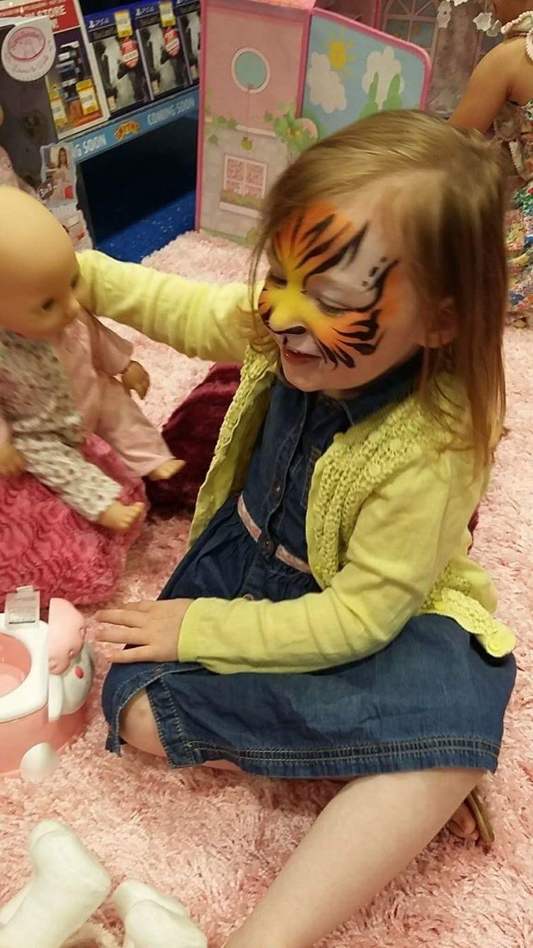 mia as a tiger!