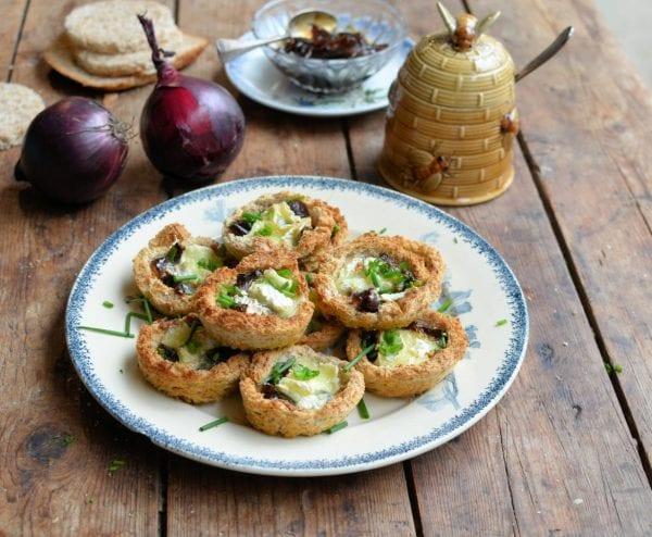 Le-Rustique-Brie-de-Caractère-Tartlets-with-Honey-Onion-Relish-1