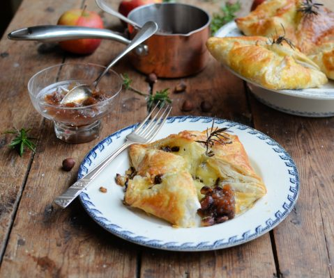 Le Rustique Camembert and Hazelnut Parcels with Quick Fruit and Honey Chutney