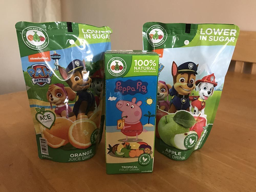 Quenching our Thirst with Paw Patrol & Peppa Pig Juice