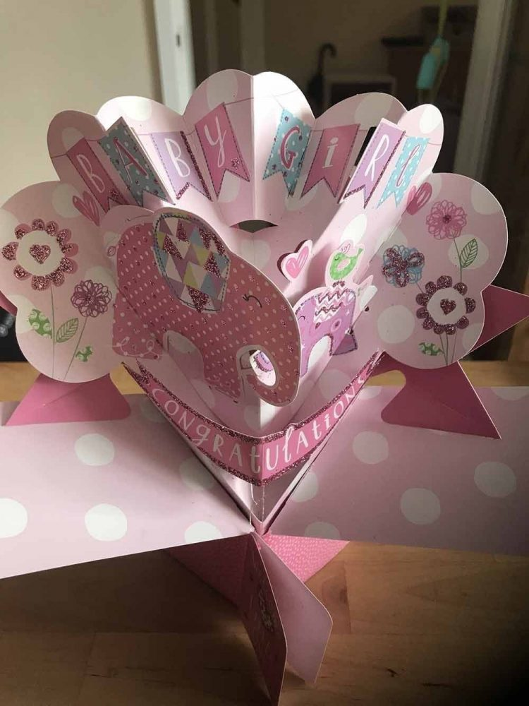 Pop-up New Baby Card
