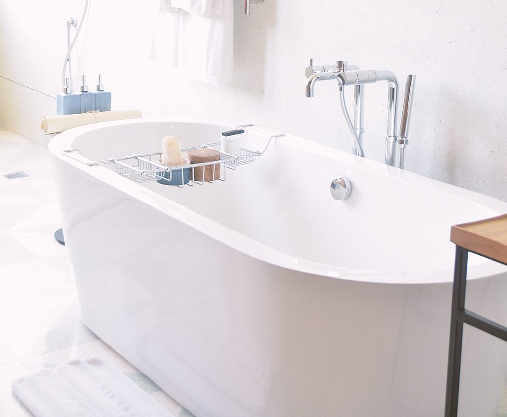 White Oval Bathtub