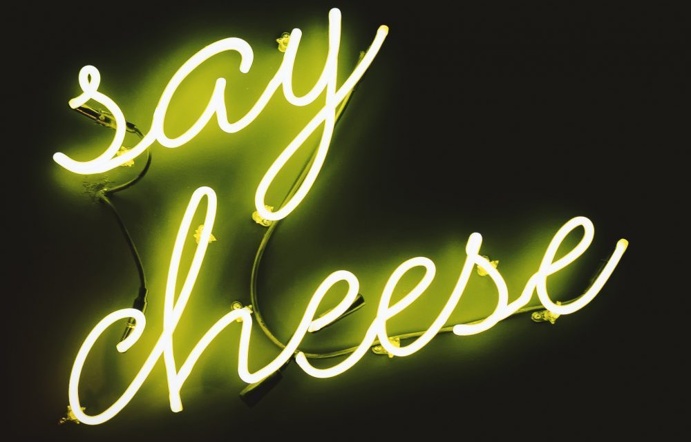 Neon 'Say Cheese' Lights