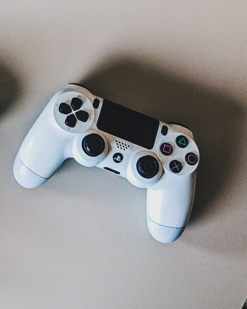 Playstation controller in white