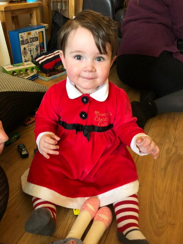 Lottie dressed as Mrs Claus