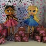 Boxy Girls stood with their carton boxes