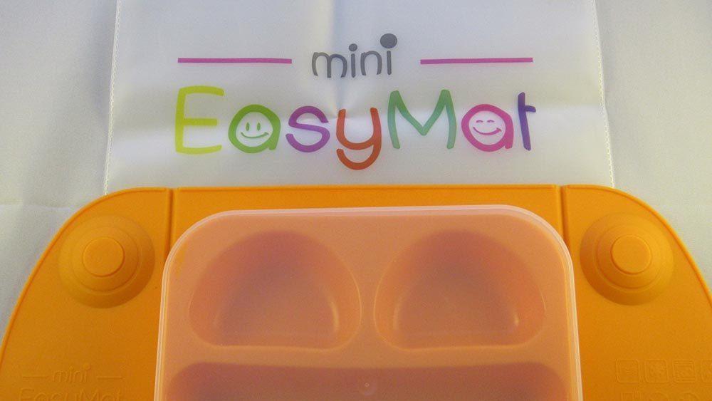 Orange mat with Mini EasyMat pouch underneath