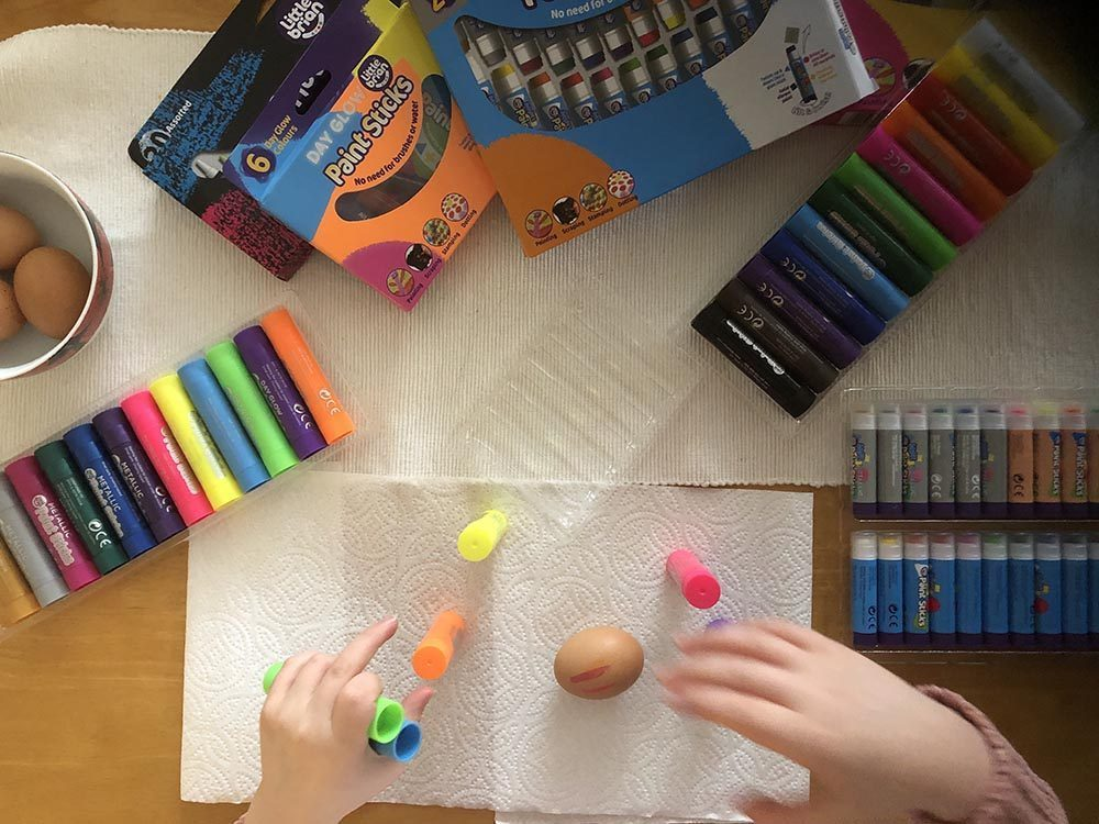 Easter Crafts Made Easy with Paint Sticks
