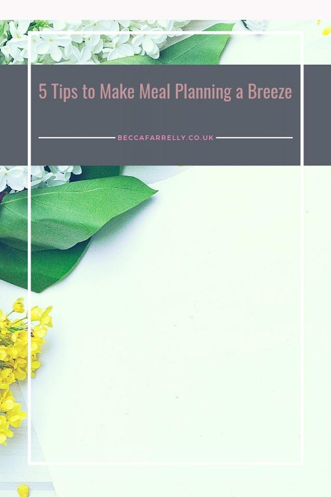 Meal Planning and Batch Cooking